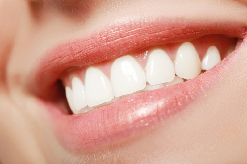 close-up of a bright smile after cosmetic treatment